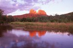 Cathedral Rock and Oak Creek at Sunset