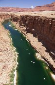 Rafts Heading toward Marble Canyon on the Colorado River