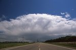 Storm Clouds over a Lonely Minnesota Highway