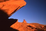 Mexican Hat Rock at Sunset