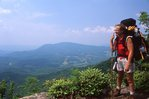 An Appalachian Trail Backpacker on Little Rock Knob
