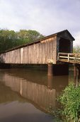 The Thompson Mill Bridge (1868) on the Kaskaskia River