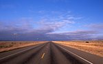 A Lonely Highway in the Chihuahuan Desert