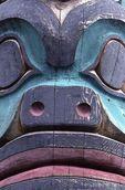 Detail of an Alaskan Totem
