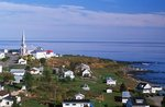 A Remote Gaspe Village on the St. Lawrence River
