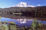Mount Rainier and the Reflection Lakes