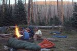 Teenagers at a Colorado Wilderness Campfire