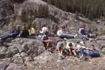 Young Backpackers Resting in the Bighorn Mountains