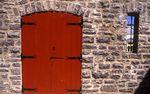 A Red Door in Quebec City's Vieux Carre