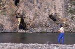 A Fisherman on the Leffingwell fork of the Aichilik River