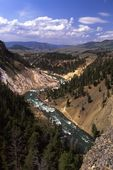 The Yellowstone River at Calcite Springs
