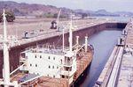 The Miraflores Locks on the Panama Canal