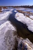 Ice on the South Platte River