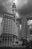 The Wrigley Building (1921-24), the Sheraton Hotel Building (1929) and the Tribune Tower (1923-25)