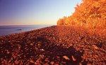 A Lake Superior Beach at Sunset