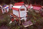 Athabaskan Spirit Houses in Eklutna Cemetery