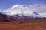 Mount Denali and the Park Road from Thorofare Pass