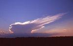 A Cumulonimbus Cloud at Sunset over Northern Illinois