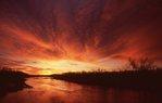 The Platte River at Sunrise