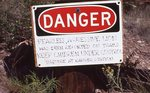 A Warning Sign in the Chisos Mountains