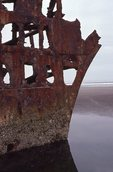 Wreckage of the Peter Iredale