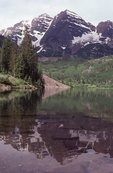 The Maroon Bells and Maroon Lake