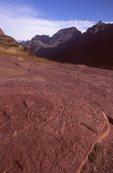 Exposed Bedrock above Logan Pass
