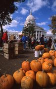 A Farmers' Market at the Wisconsin State Capitol Building