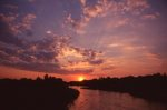 Sunset over the South Platte River