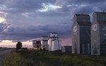 Alberta Grain Elevators at Dusk (demolished in the 1990s)