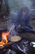 Cooking Dinner over the Campfire