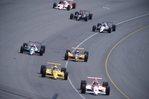 Racing Through Turn 4 at the Indianapolis '500'