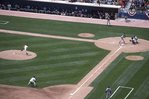 The First Pitch of the Opening Game at New Comiskey Park, by Jack McDowell
