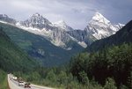 The Trans-Canada Highway below Mount Sir Donald