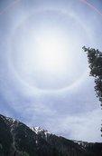 A Sun Halo above the Rocky Mountains