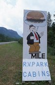 An Advertising Sign on the Alaska Highway