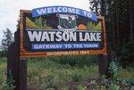 The Entrance to Watson Lake on the Alaska Highway