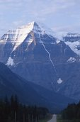 Mount Robson Looms Above the Yellowhead Highway