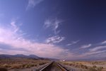 An Isolated Railway in the Mojave Desert