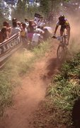 On Bailey's Bailout, during the World Cup Mountain Bike Championship