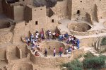 Tourists at Cliff Palace