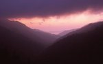 A Stormy Sunset over the West Prong Valley