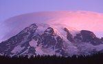 A Lenticular Cloud over Mount Rainier at Sunrise