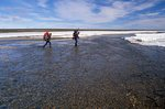 Backpackers at the Cheyne River in Canada's High Arctic