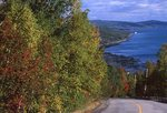 A Road to the St. Lawrence River in Quebec's Charlevoix Region