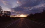 Sunset on the Alaska Highway
