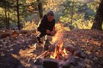 A Backcountry Campfire in the Porcupine Mountains