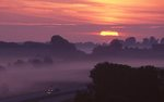A Foggy Sunrise over Interstate 80