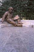 The Albert Einstein Memorial (by Robert Berks, 1979)