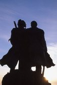 """""""The End of the Trail"""" (Lewis and Clark Sculpture by Stanley Wanless, 1990)"""